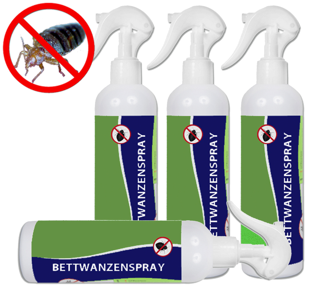 anti bettwanzen spray 4x250ml getestete wirkung. Black Bedroom Furniture Sets. Home Design Ideas