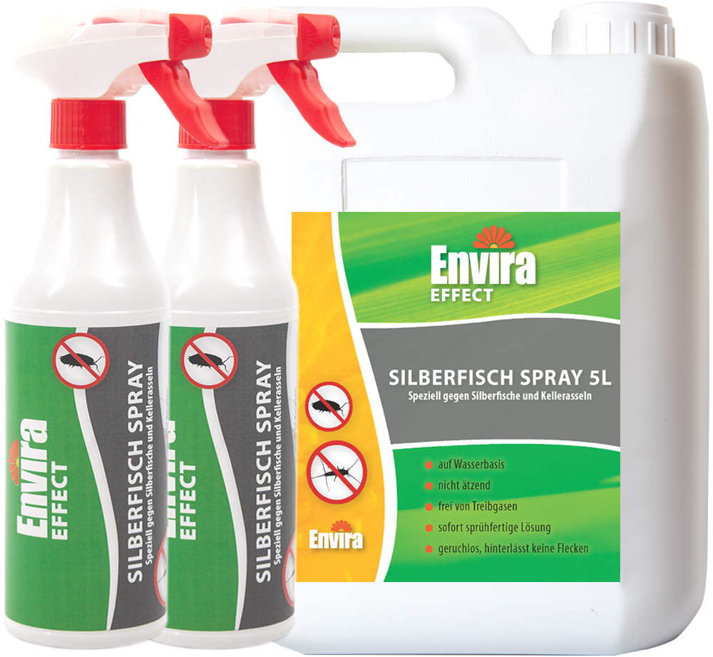 ENVIRA 5L+2x500ml Silberfisch Spray